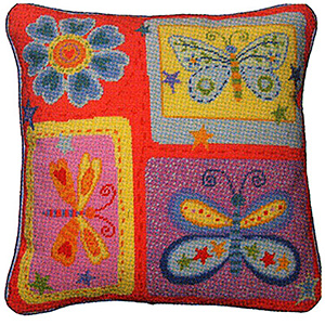 Primavera Needlepoint Cushion Kit - Butterflies