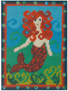 Primavera Needlepoint Picture Kit - Molly's Mermaid
