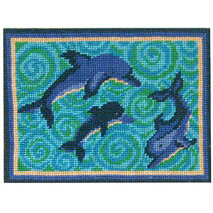 Primavera Needlepoint Picture Kit - Dea's Dolphins