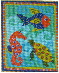 Primavera Needlepoint Picture Kit - Felicity's Fish