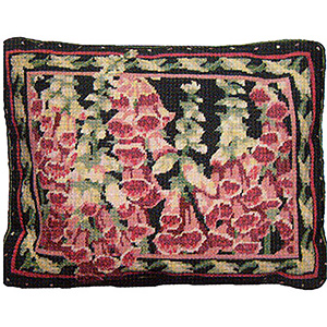 Primavera Needlepoint Cushion Kit - Foxgloves