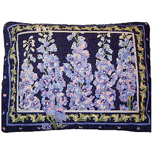 Primavera Needlepoint Cushion Kit - Delphiniums