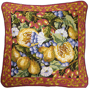 Primavera Needlepoint Cushion Kit - Harvest of Fruits