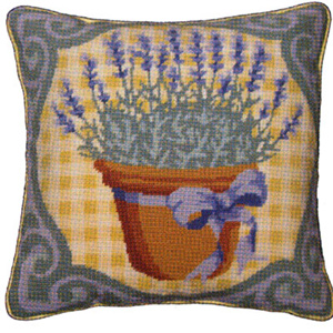Primavera Needlepoint Cushion Kit - Lavender