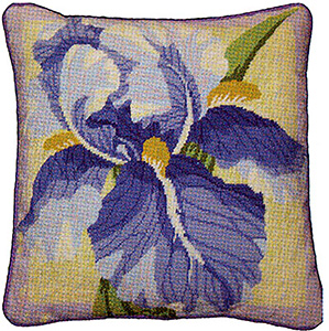 Primavera Needlepoint Cushion Kit - Single Iris