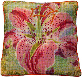 Primavera Needlepoint Cushion Kit - Single Lily