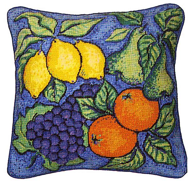 NeedlepointUS.com: Primavera Cushion Kit - Fruit, Cushions and ...
