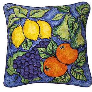 Primavera Needlepoint Cushion Kit - Fruit
