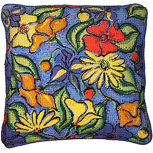 Primavera Needlepoint Cushion Kit - Flowers