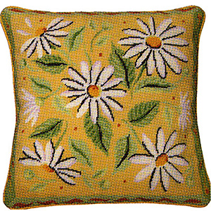 Primavera Needlepoint Cushion Kit - Yellow Daisies