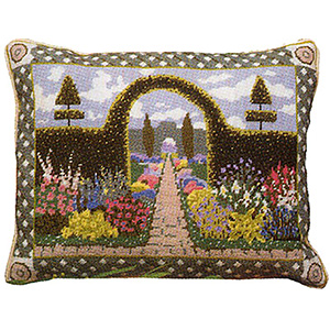 Primavera Needlepoint Cushion Kit - Enchanted Garden