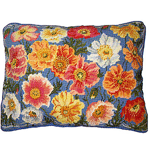 Primavera Needlepoint Cushion Kit - Garden Poppies