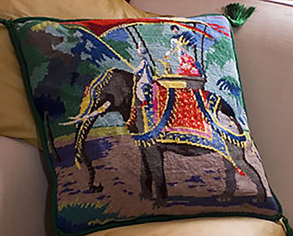 Needlepointus World Class Needlepoint Indian Elephant