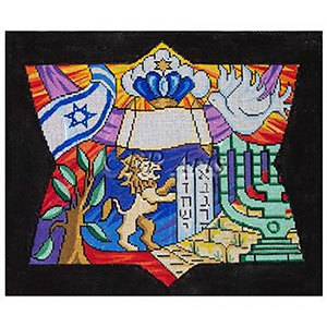 Shalom Needlepoint Tallis Canvas
