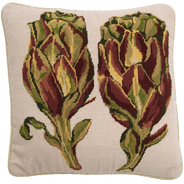 Fine Cell Work Needlepoint - Artichokes
