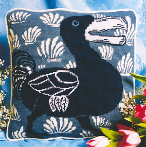 Fine Cell Work Needlepoint - Blue Dodo