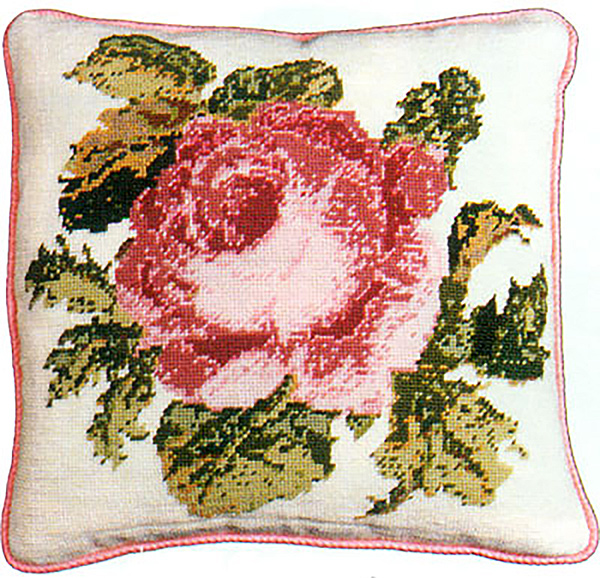 Fine Cell Work Needlepoint - Rose