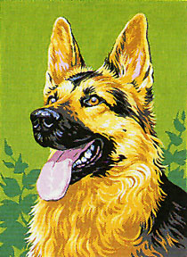 Royal Paris German Shepherd II Canvas