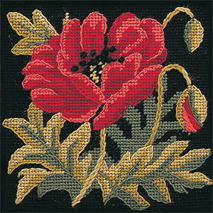 Glorafilia Needlepoint - Victorian Poppy Miniature Kit