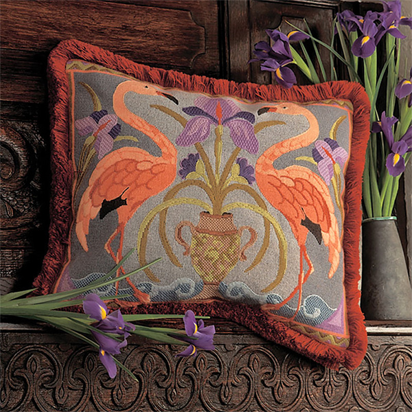 Glorafilia Needlepoint - Flamingos Cushion Kit