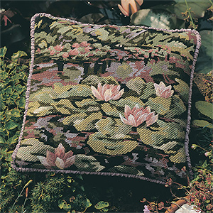 Glorafilia Needlepoint - Waterlilies Cushion Kit