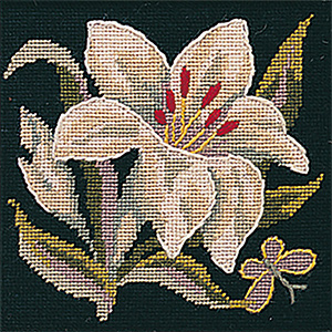 Glorafilia Needlepoint  - Victorian Lily Miniature Kit