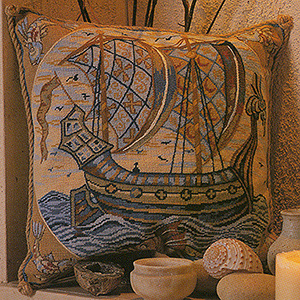Glorafilia Needlepoint - William de Morgan Galleon Cushion Kit