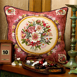 Glorafilia Needlepoint - Aubusson Flowers Cushion Kit