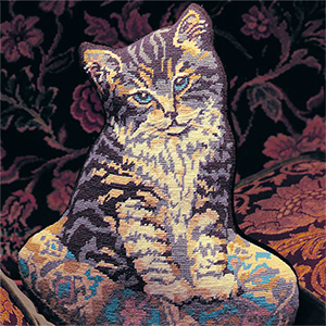 Glorafilia Needlepoint - Cat on a Cushion Cushion Kit