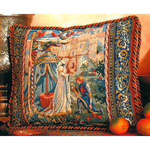 Glorafilia Needlepoint - Cushions & Pillows - Lancelot and Guinevere
