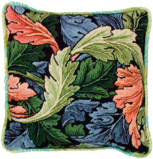 Glorafilia Needlepoint - Cushions & Pillows - William Morris Acanthus Cushion Kit
