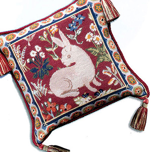 Glorafilia Needlepoint - Cushions & Pillows - Medieval Rabbit