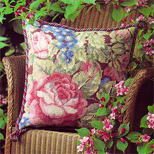 Glorafilia Needlepoint - Garden Roses Cushion Kit