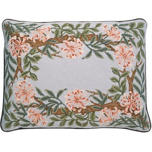 Beth Russell Needlepoint - Honeysuckle Border Collection - Honeysuckle Border Pillow/Firescreen - Grey Background - Kit