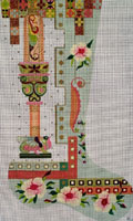 Leigh Designs - Hand-painted Needlepoint Canvases - Byzantine Dynasty Stockings - Zoe Stocking