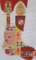 Leigh Designs - Hand-painted Needlepoint Canvases - Byzantine Dynasty Stockings - Constantine Stocking