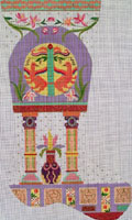 Leigh Designs - Hand-painted Needlepoint Canvases - Byzantine Dynasty Stockings - Basil Stocking
