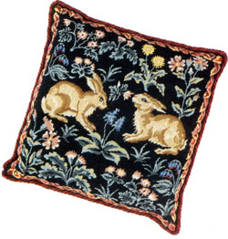 Julia Hickman's Stitchery Needlepoint - Woodland Rabbits Kit