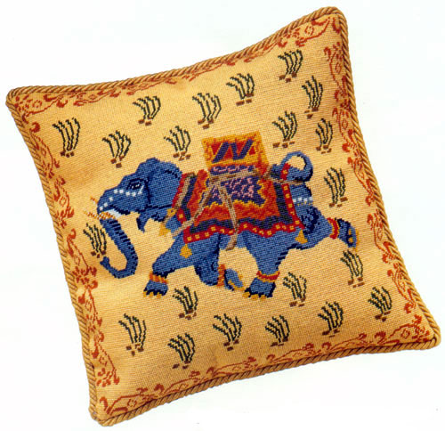 Julia Hickman's Stitchery Needlepoint - Indian Elephant Kit