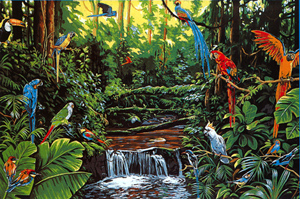 Margot Creations de Paris - Tapestries - Jungle Life
