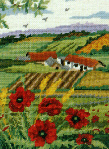 Poppy Scape - Anchor British Collection Needlepoint Tapestry Kit
