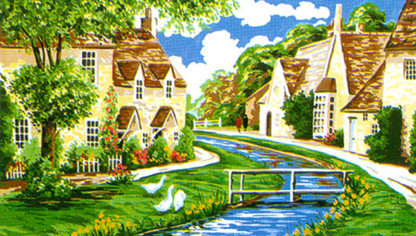 Lower Slaughter, Cotswolds - Anchor British Collection Needlepoint Tapestry Kit