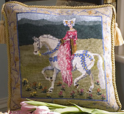 Medieval Lady Needlepoint Cushion Kit from The Purple Tree Collection