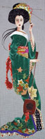 Leigh Designs - Hand-painted Needlepoint Canvases - Geishas - Keiko