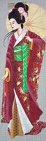 Leigh Designs - Hand-painted Needlepoint Canvases - Geishas - Choko
