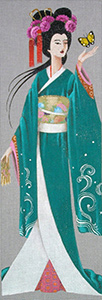 Leigh Designs - Hand-painted Needlepoint Canvases - Geishas - Riko