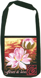 Margot Creations de Paris Needlepoint Shoulder Bag Kit - Lotus Flowers