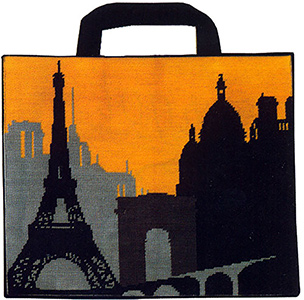 Margot Creations de Paris Needlepoint Shopping Bag Kit - Paris