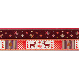 Margot Creations de Paris Needlepoint Snowflakes and Reindeer Breeze Stopper
