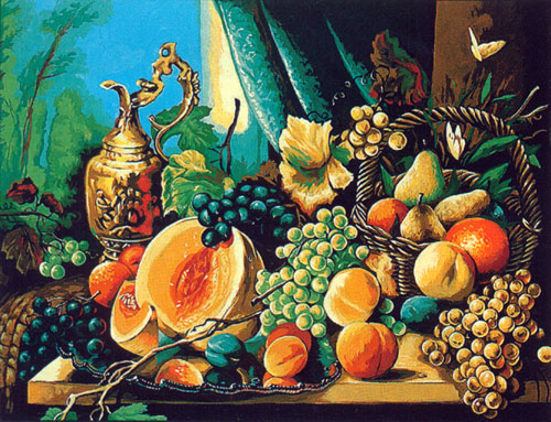Margot Creations de Paris Needlepoint (Composition de Fruit) Fruit Composition Large Canvas